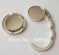Blank handbag hook round shape bag purse hanger plain logo OEM DIY bag accessories free shipping