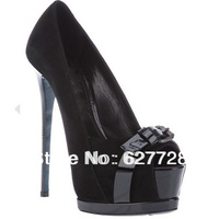 Black Leather New Style Women Shoes,Fashion Dress Shoes,2013 Designer High Heels