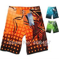 New Orange Green Blue Striped Mens Leisure  Board Shorts Summer Beachwear Swimwear Swim Surf Trunk Pants Unique Free Shipping