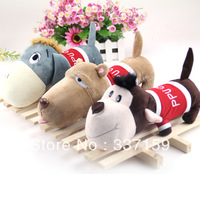 Free shipping 23cm cloth big head dog , monkey and donkey stuffed animals dolls plush toys for children and  wedding gift