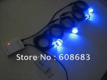 Wholesale! Outdoor Colour Changing LED Garden Decking Kits: 20pcs  Lights&1pc 30W Transformer&1pc controller & 10pcs 2M Extesion