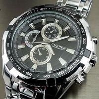 2013 Hot! Curren Fashion Men's Watch Men Quartz Adjustable Stainless Steel Analog Watch M917B Wholesale military men's watches