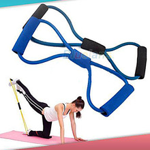 1PC Resistance Bands Tube Workout Exercise for Yoga 8 Type Sport Bands Free Shipping 00KW(China (Mainland))