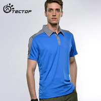 Summer outdoor quick-drying turn-down collar t-shirt breathable quick dry clothing ts3045