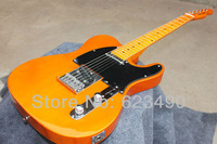 Best Price HOT ! tele guitar High Quality Orange Yellow Tele Guitar Ameican Sandard Telecaster electric Guitar in stock