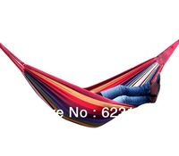 Thickening of outdoor leisure hammock ,single  canvas hammock to send tie rope bag,200*100cm,2colors,free shipping!