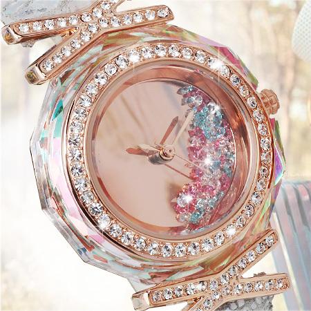 Mrhea Women s wrist watch fashion ladies CZ rhinestone Python pattern Leather bracelet Dress hours Jewelry