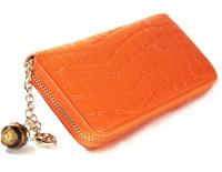 2013 women's wallet single zipper wallet fashion pendant clutch beautiful orange