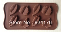 Free shipping 1PCS many kinds leaf shape Muffin Sweet Candy Jelly fondant Cake chocolate  Mold Silicone tool Baking Pan