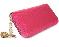 Women's wallet single zipper wallet fashion pendant female clutch sexy genuine leather wallet