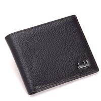 Dandeli genuine leather male wallet soft leather male wallet ultra-thin horizontal coffee wallet
