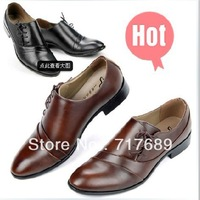Korean men's business dress shoes, casual shoes lace pointed free shipping