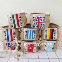 Zakka jute cloth hemp flag storage bag box storage basket storage basket bucket
