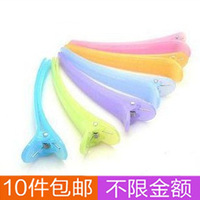 10 accessories duckbill clip side-knotted clip jelly color translucent hair clip