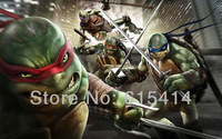 "01 Teenage Mutant Ninja Turtles cartoon 22""x14"" inch wall Poster with Tracking Number"