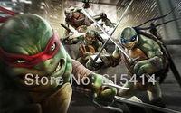 "01 Teenage Mutant Ninja Turtles cartoon 22""x14"" inch wall Poster with Tracking Number"
