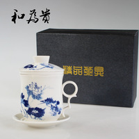 Double layer cup bone china office cup,free shipping