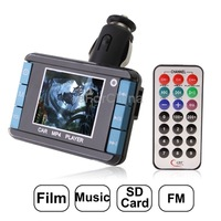 Free Shipping 1.8 inch LCD Screen Car MP4 Player with FM Transmitter, Support Micro SD Card