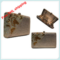 Rectangle A crystal clutch mini bags party famous luxury bag hand women's  bags famous brands 2013