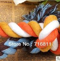 New 5PCS/Lot pet toys cotton braided bone rope dog cat toy