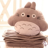 Free Shipping Totoro totoro plush doll thermal pillow blanket cushion multifunctional