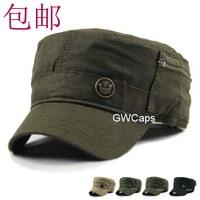 mix order retail free shipping - Fashion small fresh zipper cadet military cap hat summer hat fashion sun-shading