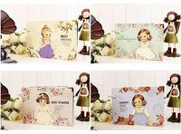 Free Shipping Korea stationery girl multicolour doll diy photo album paste type photo album