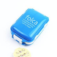 free shipping Folca Compact Pill Case 8 compartments PILL BOX TABLET CASE 2pcs/lot