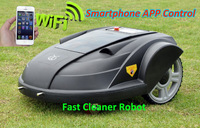 2013 Newest Third Generation Pressure Sensor,Time Setting,Language,Subarea Setting,Compass Function Intelligent Lawn Mower Robot