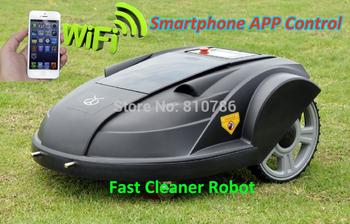 2014 Newest Third Generation Pressure Sensor,Time Setting,Language,Subarea Setting,Compass Function Intelligent Lawn Mower Robot