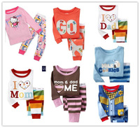 Free shipping new 2014 various Cartoons children clothing sets boys and girls pijama autumn and spring growth 70 to 120cm