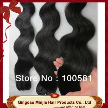 "Free shipping 24"" 26""28""30"" body wavy brazilian hair extension hair weaving"