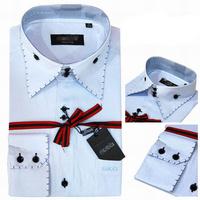 High Quality Mens Shirts Europe Style Long Sleeve Slim Fit Cotton Shirts For Men Fashion Dress Shirt Size s-4xl