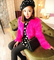 Spring and autumn luxury ladies high quality faux fur outerwear short design  Free shipping