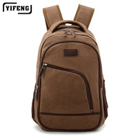 brand fashion designer vintage male laptop bag school travel sports backpack for men with canvas, wholesale, YF8029sch