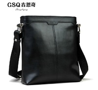 Gsq man bag shoulder bag messenger bag 2014 male cowhide business casual genuine leather bag