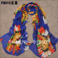 2013 Feather silk scarf beach towel women's chiffon scarf summer scarf printed pashmina free shipping
