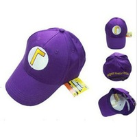 Super Mario Bros Brothers Purple Ball Hat Baseball Cap
