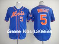 Free Shipping 2013 Newest Men's Baseball Jerseys New York Mets #5 David Wright Cool Base Jersey,Embroidery Logos,Mix Order