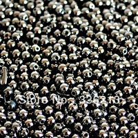 2,000 Metallic 4mm Plastic Round Beads in Gunmetal Finishing Color