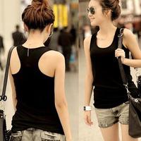Super Hot! All-Match Rib knitting Women's Basic Tanks Shirt Mix Match Slim Strap Vest Tank Camis Blouse