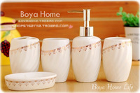 Fashion classic ceramic bathroom set fresh bathroom toiletries