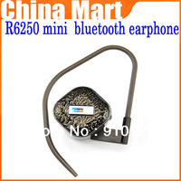 Free Shipping R6250 mini wireless bluetooth  stereo earphones  for IPHONE / SAMSUNG/  HTC/NOKIA