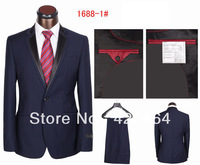 Free Shipping! Name Brand Fashion Elegant Slim Fit Men Suit, Coat+Pants, Wool Material+Top Quality Guaranteed