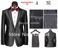 2014 Free Shipping brand blazer men suit jacket + pants hot selling men business suit terno masculino tuxedo suits for men