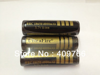 2pcs/lot UltraFire BRC 18650 3.7V 4000mAh Gold Protected Rechargeable Li-ion Battery Batteries with PCB Free Shipping