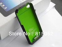 1900mAh Back shell batteries,external Battery Charging Po for iphone 4 4s free shipping