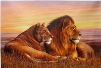 art handicrafts oil painting:Lion 24x36 inch Guaranteed 100% Free shipping