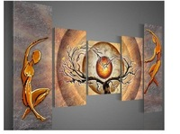 hand-painted wall art Orange trees dancing home decoration abstract Landscape oil painting on canvas