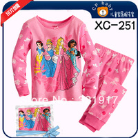 New arrival 6sets/lot  Long sleeves cotton baby pajamas kids cartoon pyjamas children sleepwear  baby costumes